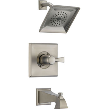 Delta T14451-SS Monitor Single Handle Pressure Balance Tub/Shower Trim - Brilliance Stainless