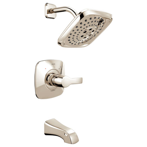 Delta T14452-PN Tesla Monitor 14 Series H2Okinetic Tub and Shower Trim - Polished Nickel