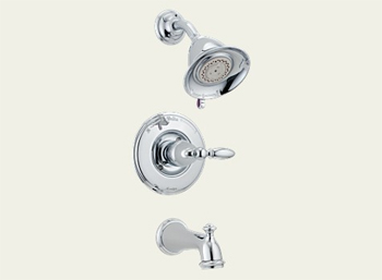 Delta T14455-LHP Victorian Bath Collection Single Handle Tub/Shower Trim Chrome