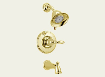 Delta T14455-PBLHP Victorian Bath Collection Single Handle Tub/Shower Trim Brilliance Polished Brass