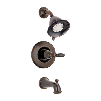 Delta T14455-RBLHP Victorian Bath Collection Single Handle Tub/Shower Trim Venetian Bronze