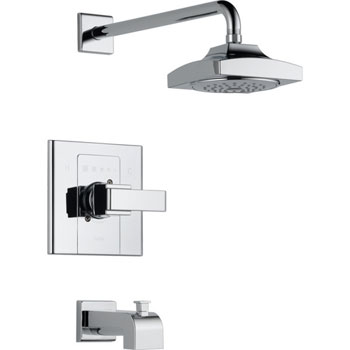 Delta T14486 Arzo Monitor Scald-Guard Single Handle Tub/Shower Trim - Chrome