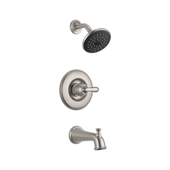 Delta T14494-SS Linden Monitor 14 Series Single Handle Tub and Shower Trim - Stainless Steel