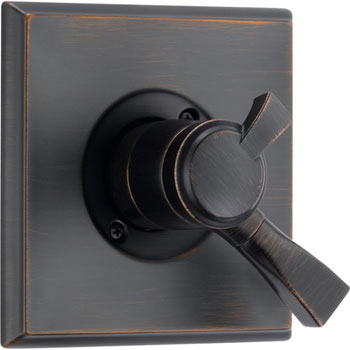 Delta T17051-RB Dryden Monitor Pressure Balance Tub/Shower Valve Trim with Volume Control - Venetian Bronze