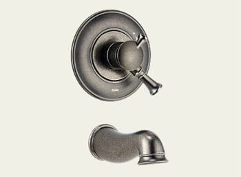 Delta T17140-PT Lockwood Bath Collection Single Handle Tub Trim Aged Pewter