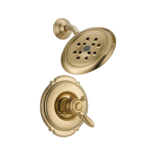 Delta T17255-CZH2O Victorian Monitor 17 Series Shower Trim with H20Kinetic Technology - Champagne Bronze