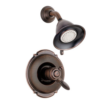 Delta T17255-RB Victorian Bath Collection Single Handle Shower Trim Venetian Bronze