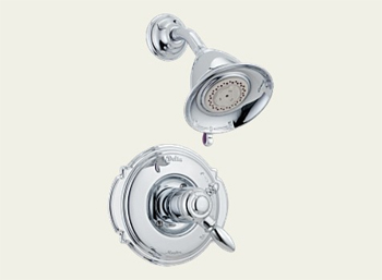 Delta T17255 Victorian Bath Collection Single Handle Shower Trim Chrome