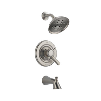 Delta T17438-SSH2O Lahara Monitor 17 Series Tub and Shower Trim with H2Okinetic Technology - Stainless Steel