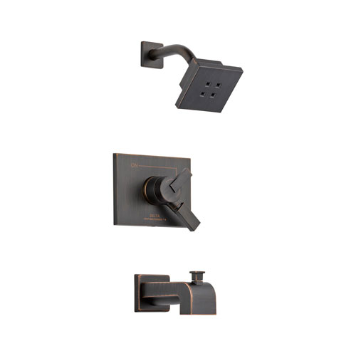 Delta T17453-RBH2O Vero Monitor 17 Series Tub and Shower Trim with H20Kinetic Technology - Venetian Bronze