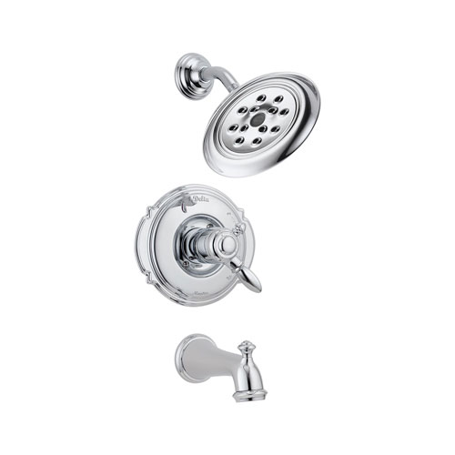 Delta T17455-H2O Victorian Monitor 17 Series Tub and Shower Trim with H20Kinetic Technology - Chrome
