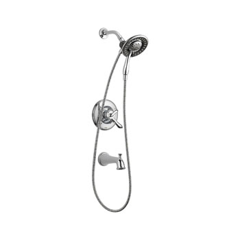 Delta T17494-I Linden Monitor 17 Series Tub and Shower with In2ition Two in One Shower - Chrome