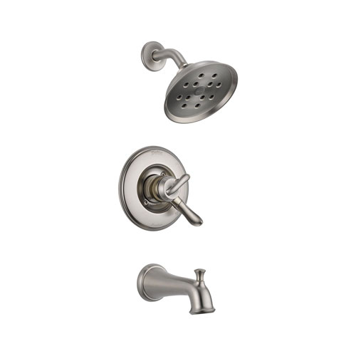 Delta T17494-SS Linden Monitor 17 Series Tub and Shower Trim - Stainless Steel