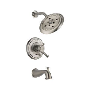 Delta T17497-SS Cassidy MultiChoice 17 Series Tub and Shower Trim - Stainless Steel