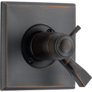 Delta T17T051-RB Dryden TempAssure Thermostatic Tub/Shower Valve Trim - Venetian Bronze