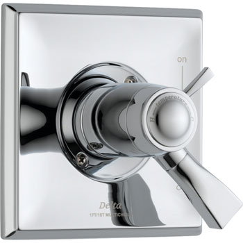 Delta T17T051 Dryden TempAssure Thermostatic Tub/Shower Valve Trim - Chrome