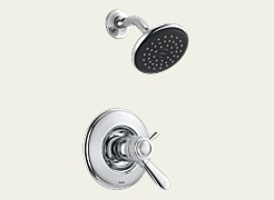Delta T17T238 Lahara TempAssure 17T Series Thermostatic Shower Trim Only - Chrome
