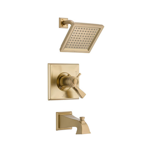 Delta T17T451-CZ Dryden TempAssure 17T Series Tub and Shower Trim - Champagne Bronze
