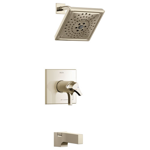 Delta T17T474-PN Zura TempAssure 17T Series Tub and Shower Trim - Polished Nickel