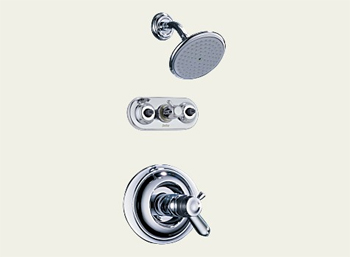 Delta T18T230-NN Innovations Collection Monitor 18 Series Jetted Shower System - Brilliance Pearl Nickel (Pictured in Chrome)