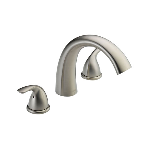 Delta T2705-SS Classic Two Handle Roman Tub Trim - Stainless Steel