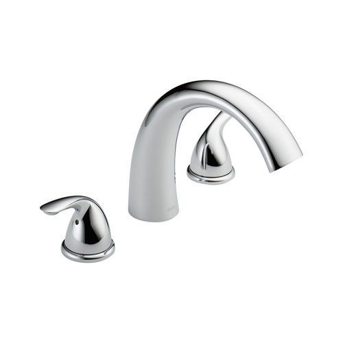 Delta T2705 Classic Two Handle Roman Tub Trim - Chrome