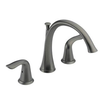 Delta T2738-RB Lahara Two Handle Deck Mount Roman Tub Filler Trim Kit - Venetian Bronze