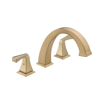 Delta T2751-CZ Dryden Two Handle Roman Tub Faucet Trim - Champagne Bronze