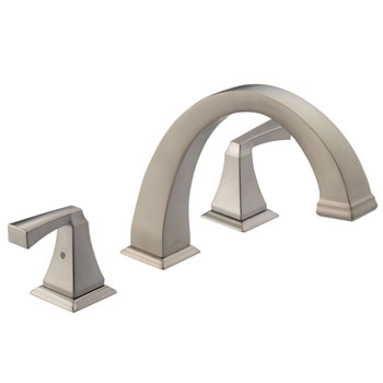 Delta T2751-SS Dryden Two-Handle Roman Tub Faucet Trim Brilliance Stainless