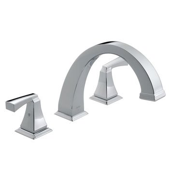 Delta T2751 Dryden Two-Handle Roman Tub Faucet Trim Chrome