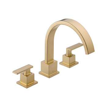 Delta T2753-CZ Vero Two Handle Roman Tub Trim - Champagne Bronze