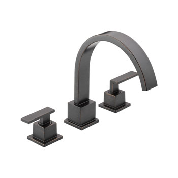 Delta T2753-RB Vero Two Handle Roman Tub Trim - Venetian Bronze