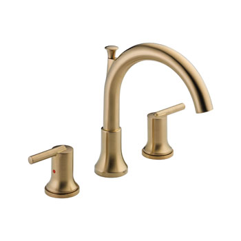 Delta T2759-CZ Trinsic 3 Hole Roman Tub Trim - Champagne Bronze