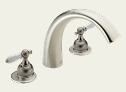 Delta T2783-NNLHP C-Spout Roman Tub Faucet Trim Brilliance Pearl Nickel