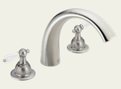 Delta T2783-SSLHP C-Spout Roman Tub Faucet Trim Brilliance Stainless