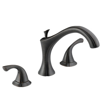 Delta T2792-RB Addison Two Handle Roman Tub Faucet Trim Venetian Bronze