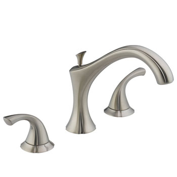 Delta T2792-SS Addison Two Handle Roman Tub Faucet Trim Brilliance Stainless