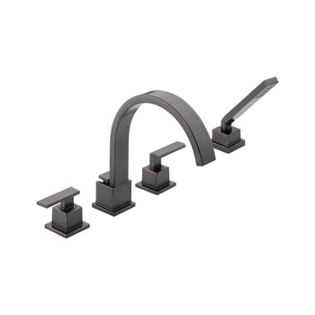 Delta T4753-RB Vero Roman Tub Faucet Trim with Handshower - Venetian Bronze