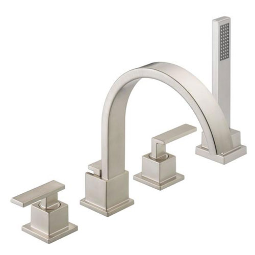 Delta T4753-SS Vero Roman Tub With Handshower Trim - Brilliance Stainless