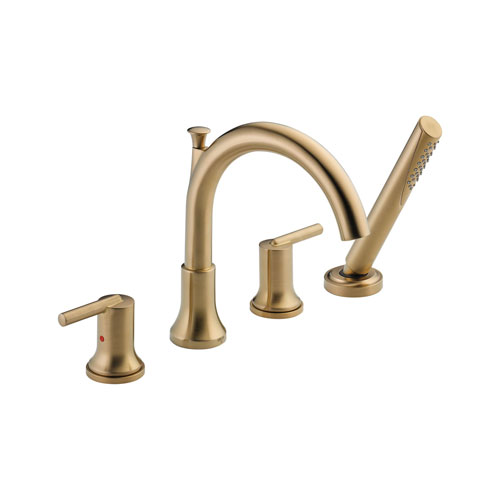 Delta T4759-CZ Trinsic Roman Tub with Hand Shower Trim - Champagne Bronze