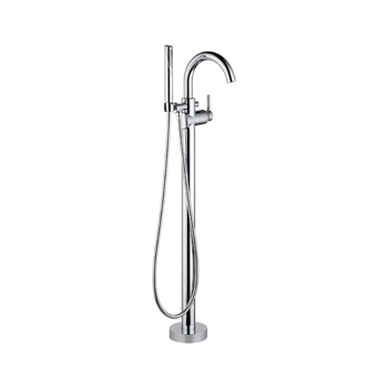 Delta T4759-FL Floor Mount Tub Filler with Handshower - Chrome