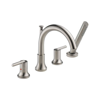 Delta T4759-SS Trinsic Roman Tub with Hand Shower Trim - Stainless Steel