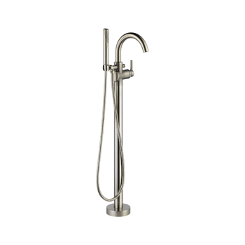 Delta T4759-SSFL Floor Mount Tub Filler with Handshower - Stainless Steel