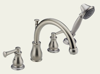 Delta T4769-SSLHP Orleans Roman Tub Faucet Trim with Hand Shower Brilliance Stainless