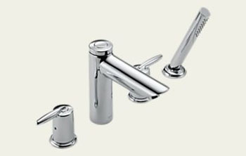 Delta T4785 Grail Two Handle Roman Tub Faucet with Handshower Trim Chrome