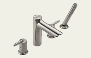 Delta T4785-SS Grail Two Handle Roman Tub Faucet with Handshower Trim Brilliance Stainless