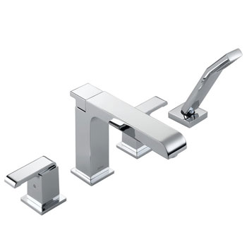 Delta T4786 Arzo Roman Tub Faucet Trim with Hand Shower Chrome