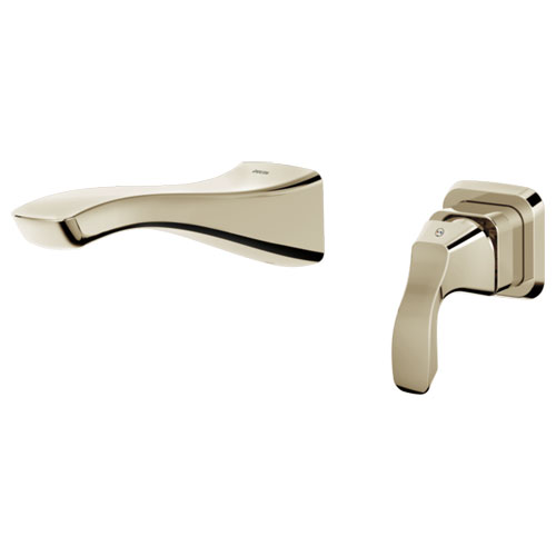 Delta T552LF-PNWL Tesla Single Handle Wall Mount Lavatory Faucet Trim - Polished Nickel