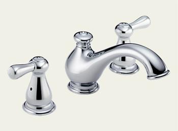 Delta T5778-LHP Leland Series Garden Roman Tub Faucet Trim Chrome