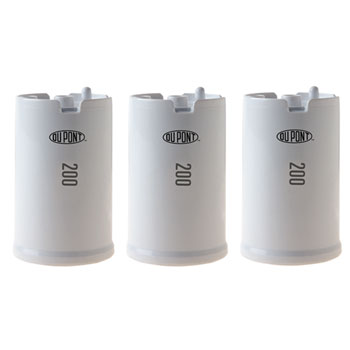 DuPont WFFMC303X 3 Pack Ultra Protection 200 Gallon Faucet Mount Water Filtration Cartridge